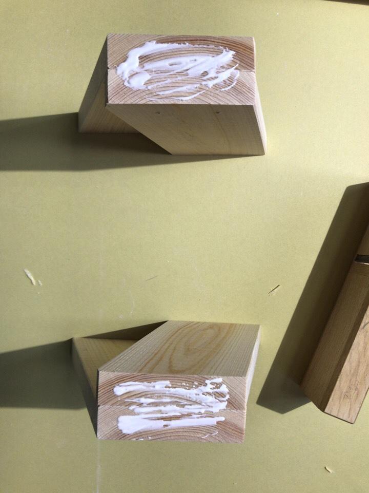 DIY ヒノキ 子供用スツール ボンド