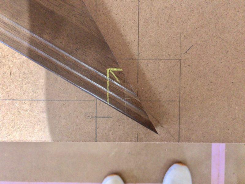 プレカット廻り階段の取付 蹴込み芯