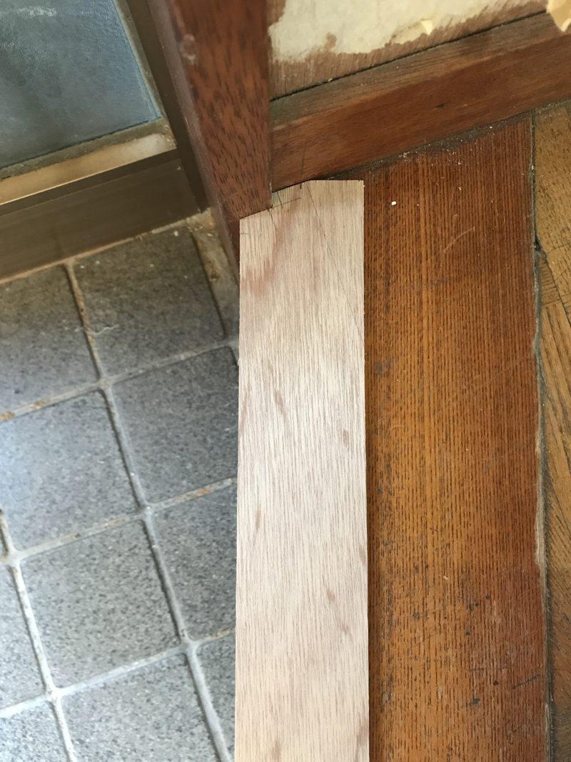 玄関框の型板