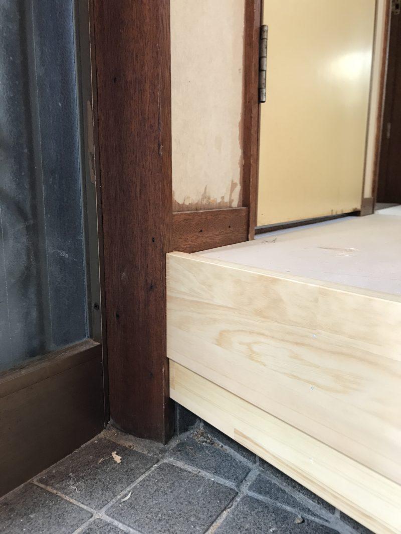 DIYで玄関框をつける