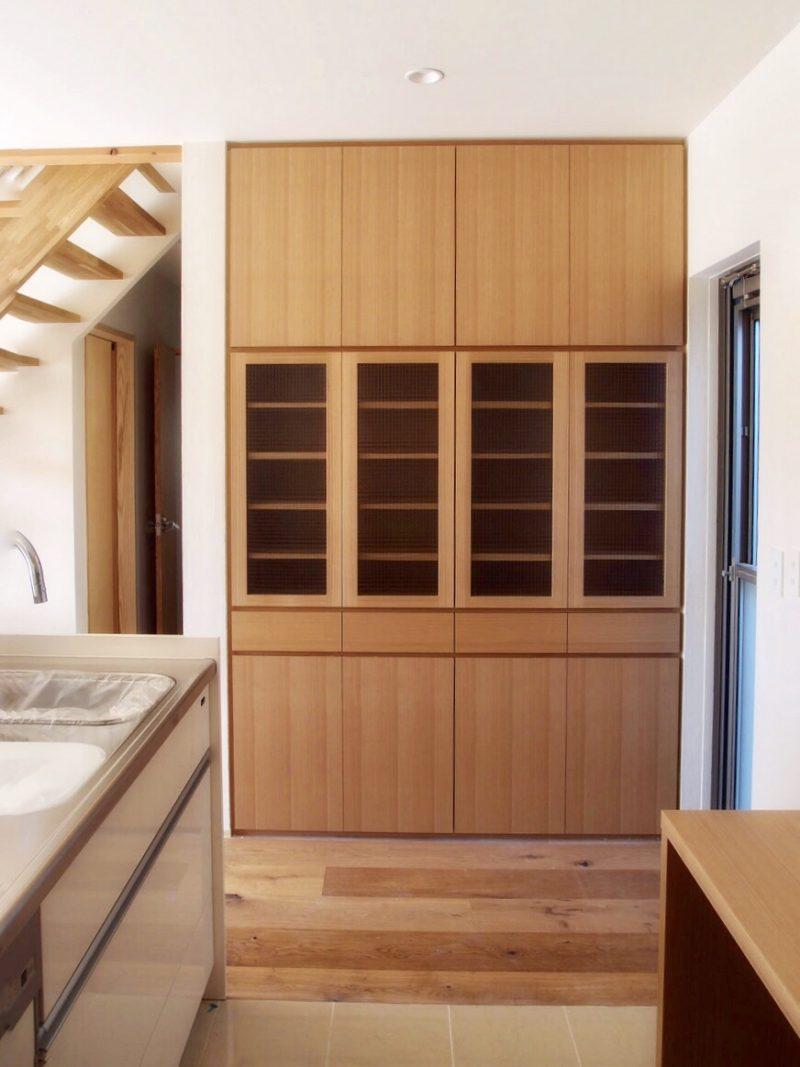 キッチン収納もオーダーメイドでサイズぴったり!