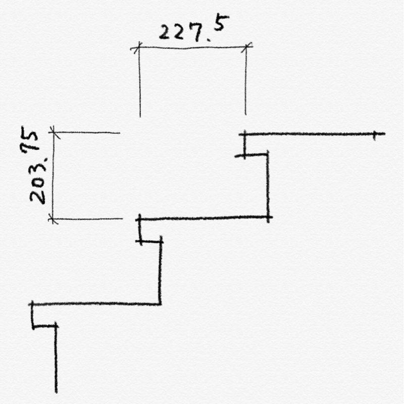 階段の蹴上寸法と踏面寸法の確認