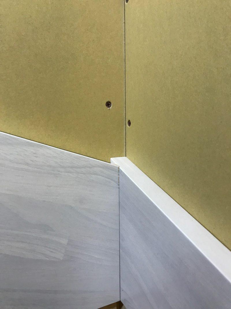 階段の廻り側板の納まり
