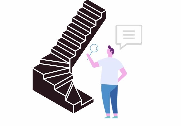 周り階段の取り付け方